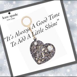NWT Kate Spade beautiful jeweled heart key chain